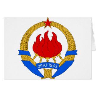 Socialist Federal Republic of Yugoslavia Emblem Card
