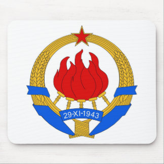 Socialist Federal Republic of Yugoslavia Emblem Mouse Pad