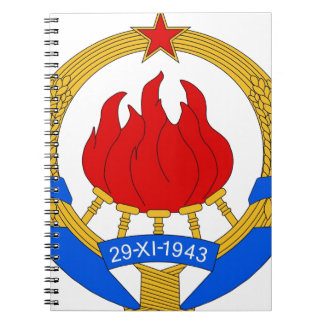 Socialist Federal Republic of Yugoslavia Emblem Spiral Notebook