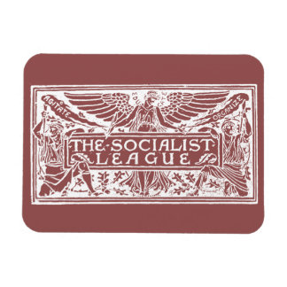 Socialist League logo white on red Rectangular Photo Magnet