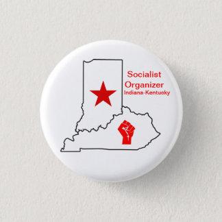 Socialist Organizer Indiana-Kentucky 3 Cm Round Badge