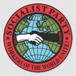 SOCIALIST PARTY USA ROUND STICKER