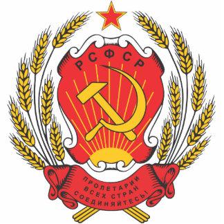 Socialist Russia national emblem Standing Photo Sculpture