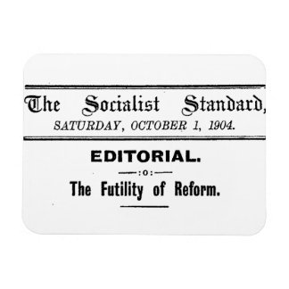 Socialist Standard 1904 October Editorial black Rectangular Photo Magnet