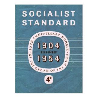 Socialist Standard 50th anniversary Postcard