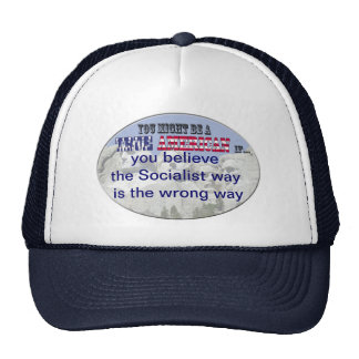 socialist way wrong trucker hat