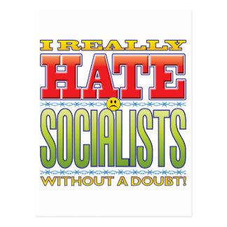 Socialists Hate Face Postcard