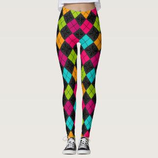Socialite Colorful Argyle Pattern Leggings