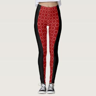 Socialite Red Circles Pattern Leggings