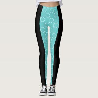 Socialite Turquoise Circles Pattern Leggings