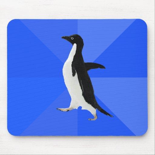 "Socially Awkward Penguin (""Customize"" to add text) Mousepad"