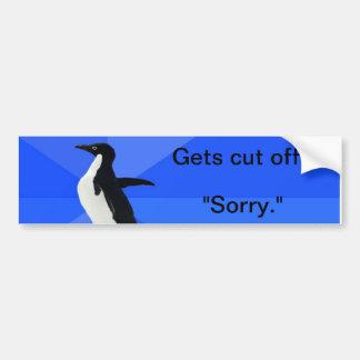 Socially Awkward Penguin Driver Bumper Sticker