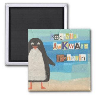 Socially Awkward Penguin magnet