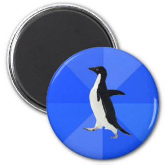 Socially-Awkward-Penguin-Meme 6 Cm Round Magnet