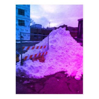 Socially awkward snowbank. postcard