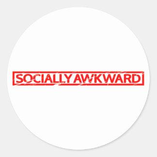 Socially Awkward Stamp Classic Round Sticker
