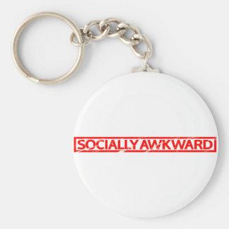 Socially Awkward Stamp Key Ring