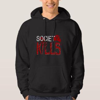 Society Mens Hoody BLACK