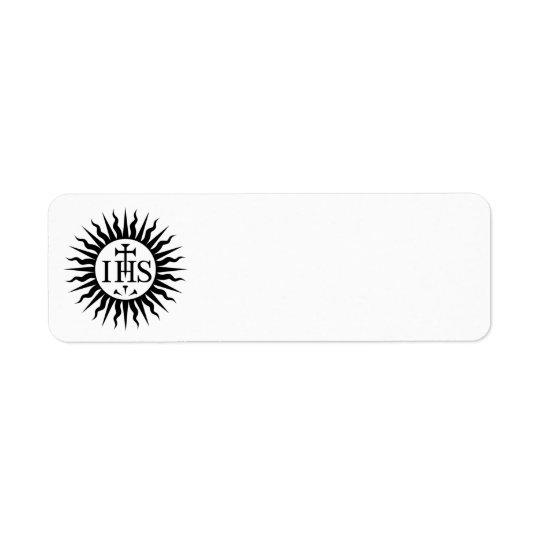Society of Jesus (Jesuits) Logo Return Address Label