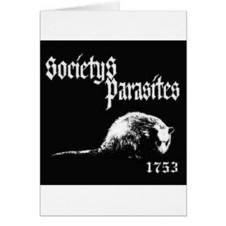 Society's Parasites shirt Card