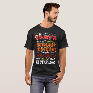 Sociology Teachers Make Naughty Nice Lists Tshirt