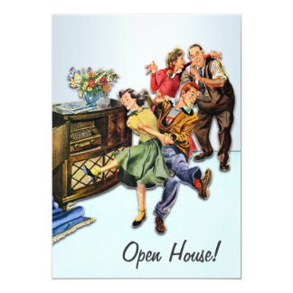 Sock Hop Open House Party Custom Retro 13 Cm X 18 Cm Invitation Card