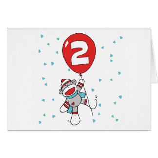 Sock Monkey 2nd Birthday Invitations
