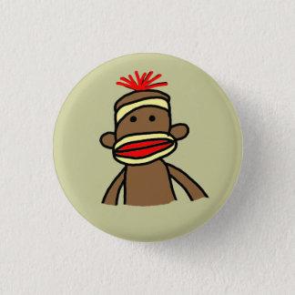 Sock Monkey 3 Cm Round Badge
