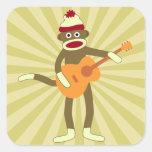 Sock Monkey Acoustic Guitar