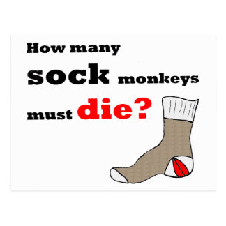 Sock Monkey Activist Postcard