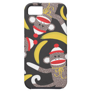 Sock Monkey and Banana Cell Phone Case