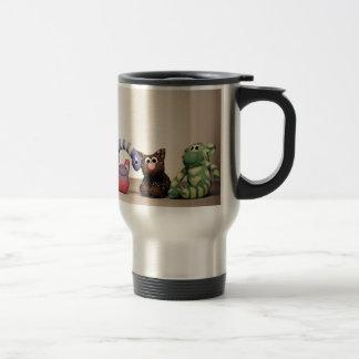 Sock Monkey and Friends Insulated Travel Mug