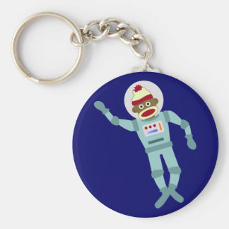 Sock Monkey Astronaut Key Ring