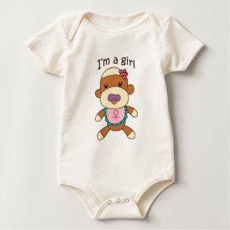 Sock Monkey Baby Girl Infant Bodysuit