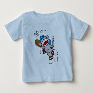 Sock Monkey Baseball Catching Ball Tshirts