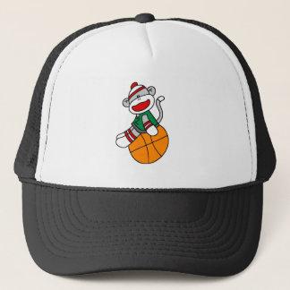 SOCK MONKEY BASKETBALL TRUCKER HAT
