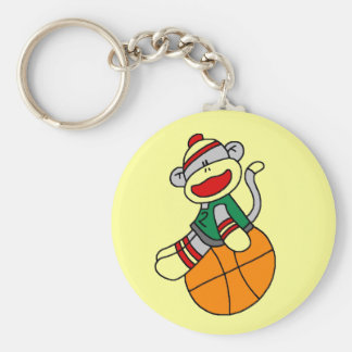 Sock Monkey Basketball Tshirts and Gifts Key Chains