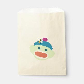 Sock Monkey & Bee Favour Bag