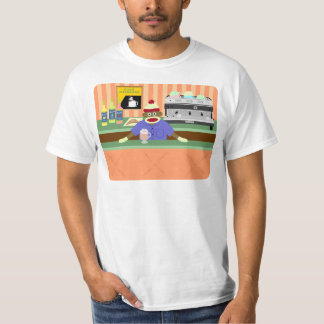 Sock Monkey Coffee Shop Barista T-Shirt