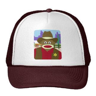 Sock Monkey Cowboy Cap