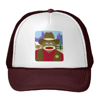 Sock Monkey Cowboy Mesh Hats