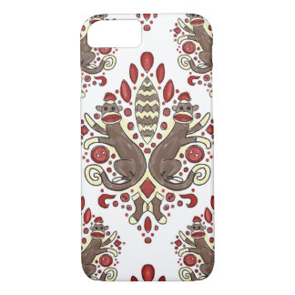 sock monkey damask iphone case