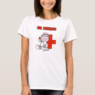 Sock Monkey ER Nurse T-shirts and Gifts