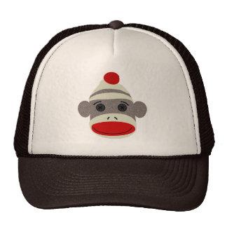 Sock Monkey Face Cap