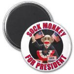 Sock Monkey for President Magnet