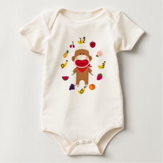 Sock Monkey Fruit Basket Infant Bodysuit
