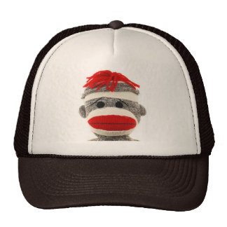 Sock Monkey Funny Hat- Are you looking at me! Cap