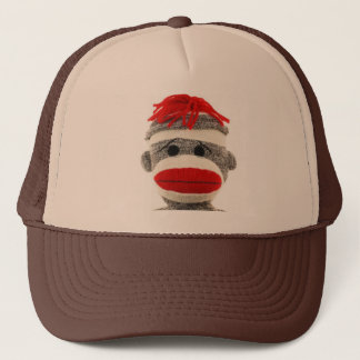 Sock Monkey Funny Hat- Are you looking at me! Trucker Hat