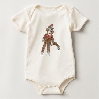 Sock Monkey infant creeper