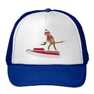 Sock Monkey Jetski Trucker Hat